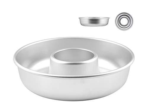 Pentole Agnelli COAL3722 Donutform mit Rohr, aus Aluminium, Silber, 22 cm