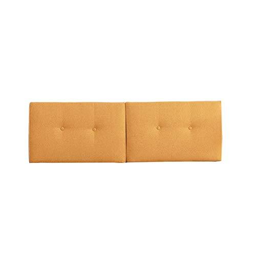 ZHEYANG Cojin Lectura 2 Cabeza Pequeña Cojines Color Sólido De Lino Lectura Cojines 23.6/29.5/35.4/39.4 x19.7x3.9in (Color : A, Talla : No Bed Type 100x50x10cm)