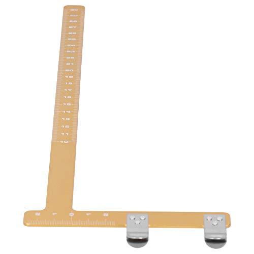 Regla de Lima de Arco en Forma de L, Arco de Ajuste en Forma de L Distancia de Cuerda Regla Cuadrada Herramienta de medición de aleación de Aluminio