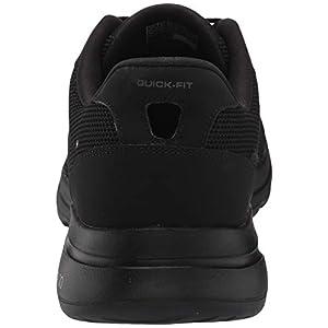 Skechers Men's Gowalk 5 Demitasse-Textured Knit Lace Up Performance Walking Shoe Sneaker, Black, 10
