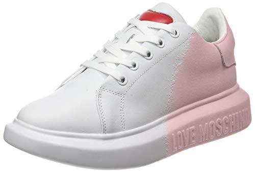 Love Moschino Damen SS21 Sneaker, Bianco, 40 EU