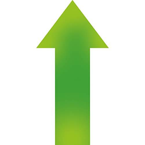 Cinsey 15 Pack Pegatina Flechas Adhesivas Suelo Verde,30 * 15cm Vinilo Autoadhesivo Pegatinas de Seguridad para Indicación Recorrido Seguridad