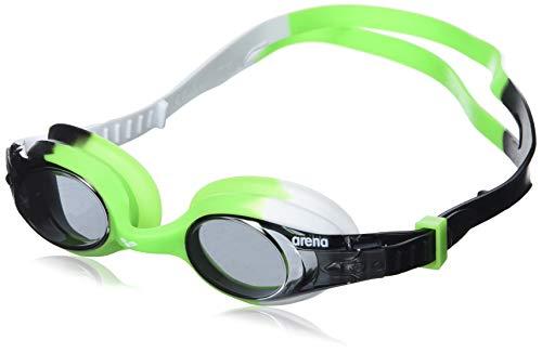 arena Kinder Unisex Training Freizeit Schwimmbrille X Lite Kids (UV-Schutz, Anti-Fog, Harte Gläser), mehrfarbig (Smoke-Green-Black), One Size
