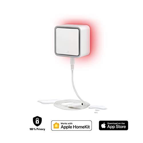 Eve 10EBG8701 Water Guard-Detector Inteligente, Cable Sensor de 2 m (Extensible), Sirena de 100 dB, Alerta de Fugas de Agua en el iPhone, iPad Watch (con Apple HomeKit)