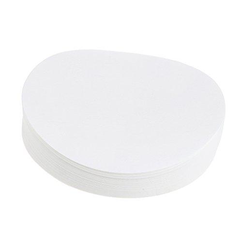 Homyl 80-120µm Quantitatives Filterpapier Durchmesser 7/9 / 11/12,5/15 cm Kreisförmig Filter-Papier für Laborexperiment (100 Stücke) Aschegehalt Weniger als 0,0009% - Weiß, 7 cm