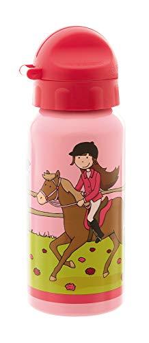 sigikid Mädchen, Trinkflasche mit Drehverschluss 0,4 l, Gina Galopp, Rosa, 25013