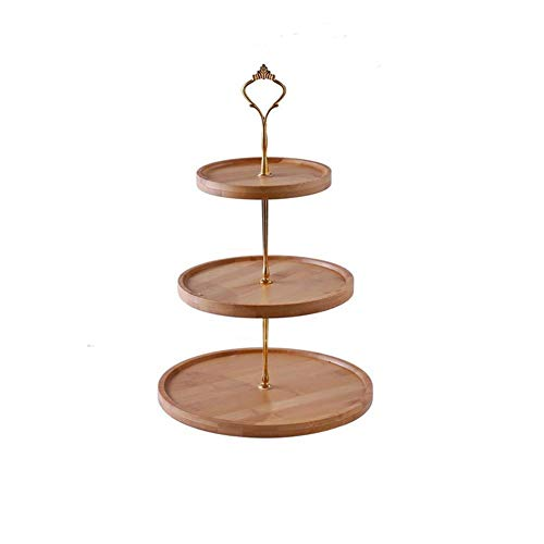 Dniu Three Layers Cheese Plate Cupcake Dessert Stand Serving Set Tiered Wedding Cupcake Display Holder Fruit Portion Plate for Afternoon Tea Wedding Party Birthday