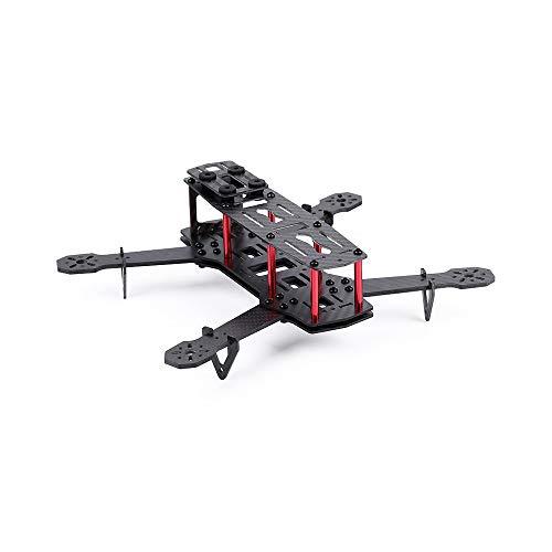 Alecony Mini Racing Drone FPV Carbon Quadrocopter Rahmen Kit, Glasfaser 250 mm Mini FPV Quadrocopter Rahmen Kit 4 Achsen Multicopter 250