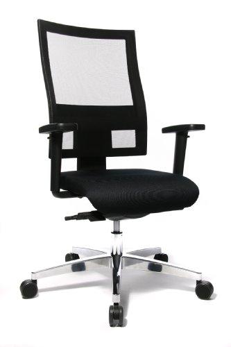 Topstar Sitness 60 Bürostuhl (inkl. Armlehnen/Sitzbezug/Netzbezug) schwarz
