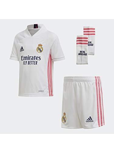 Adidas Real Madrid Saison 2020/21, offizielle Ausrüstung, für Kinder, Weiß, 92 cm