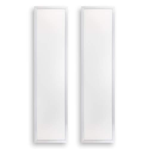 POPP® Panel LED PRO con lente PMMA, 220V, 4000-6000Lm, IP20, Blanco, 60x60cm, 30x120cm,60x120cm (PACK 2) (30x120cm 40W 4000Lm, 6000K)