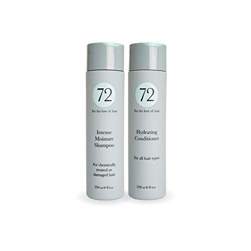 72 Hair - Intensives Feuchtigkeits Duo, Tierversuchsfreies, veganes Shampoo und Haarspülung Set - 500ml