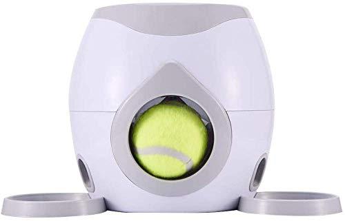 Lanzador de Pelotas para Perros, Juguete Interactivo para Perros de Lanzamiento de Pelotas de Tenis, múltiples configuraciones, Uso en Interiores y Exteriores