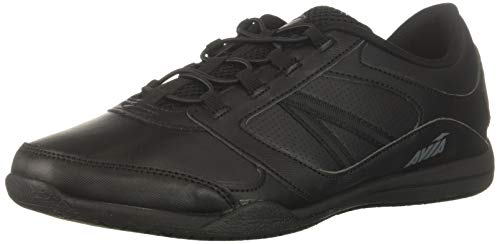 Avia Women's Avi-Focus Food Service Shoe, Black/Metallic Iron Grey/Chrome Silver, 10 Medium US