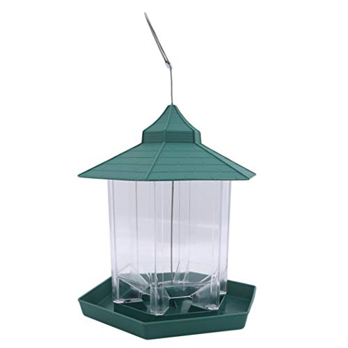 INSEET Bird Feeder, Sechseck geformt mit Dachbehang Bird Feeder für Gartenhaus