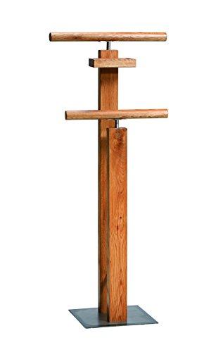 Möbel-Universum Herrendiener Massivholz Wildeiche Kleiderständer Kleider-Ständer Herren-Diener Holz Wildeiche Natur Stummer Diener Holz Hosenständer Schlafzimmer-Accessoire Massiv-Holz