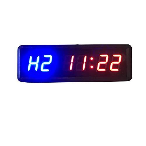 Kacsoo - Cronómetro de actividad LED multifunción con control remoto, cuenta regresiva/reloj de menta, para entrenamiento en casa, gimnasio, soportes de montaje en pared incluidos