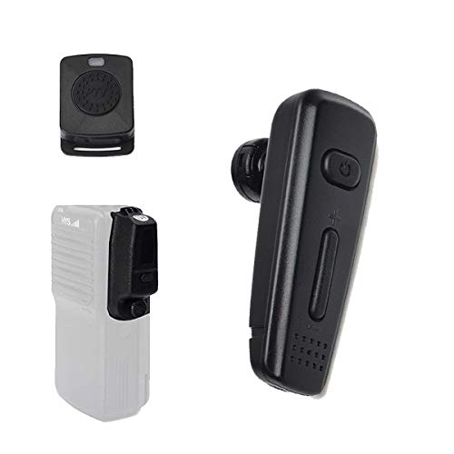 HYS 2-Way Radio Walkie-Talkie Bluetooth Wireless Earpiece Headset with PTT MIC Dongle for Motorola/Mototrbo Digital Radios APX1000 APX4000 APX6000 APX7000 APX8000 XPR6350 XPR6550 XPR7350 XPR7550