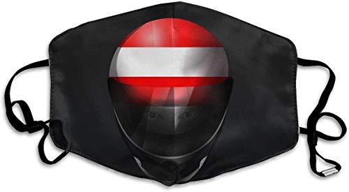 Staubschutzmaske Österreich Nationalflagge Helm Anti-Verschmutzung waschbar Wiederverwendbar Mundmasken