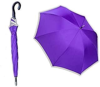 Poitwo Parapluie invers/é Double Couche pour Voiture Coupe-Vent Protection UV Grand Parapluie Droit Rose Rose
