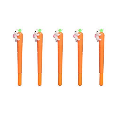 Amosfun Gelstift, Karotten-Motiv, süßes Kaninchen, Gelstift, für Büro, Schule, Ostergeschenk, 5 Stück