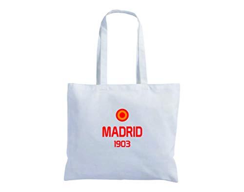 Tipolitografia Ghisleri Shopper Einkaufstasche mit langen Handgriffen, 40 x 40 cm, Flagge Madrid