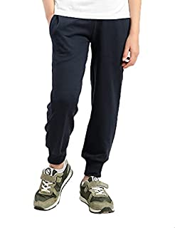 Kady Cotton Ribbed-Trim Drawstring-Elastic Waist Sweatpants for Kids