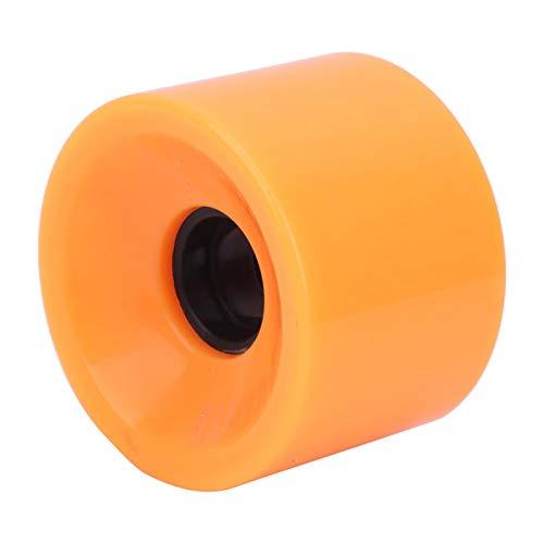 Tomantery 4PCS/Set Skateboard Lenkung Anti-Rutsch-Flash-Rad für Skateboard Pennyboard Waveboard Cruiser Snakeboard Roller Quad Skates(orange)