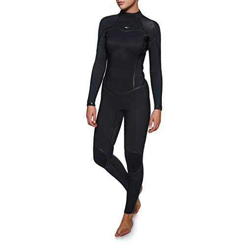 O';Neill Dames Psycho One 5/4MM Winter Koud Water Winter Koud Weer Back Zip Wetsuit Zwart - Gemakkelijk stretch en lichtgewicht