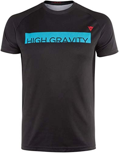 Dainese HG tee 3 Camiseta de MTB, Hombre, Hawaiian-Ocean/High-Risk-Rojo, XL