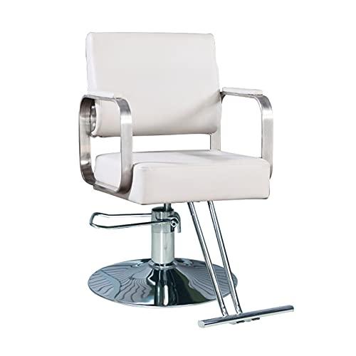 FLAMY Sedia da Barbiere,Sedia da Parrucchiere con Pompa idraulica, Sedia da Design Girevole,Sedia da Barbiere Regolabile,con Pedale,per Barbiere,Pelle PU,Colore/Base Opzionale