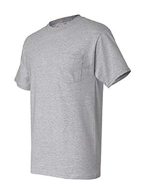 Hanes Beefy-T Men`s Pocket T-Shirt