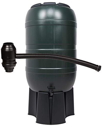 Ondis24 Regentonne 210 Liter Wassertank Regenwasserfass mit Auslaufhahn Ständer und Regendieb, de Luxe Füllautomat inklusive