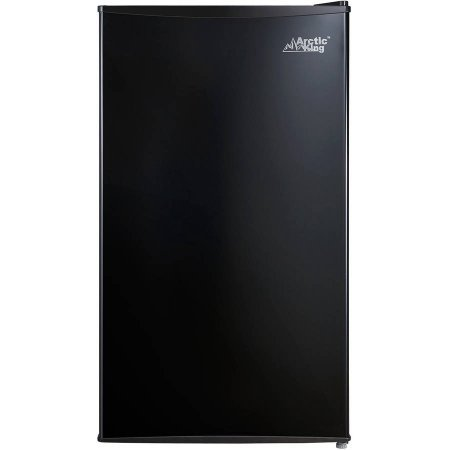 2L Bottle Storage and Can Dispenser | Arctic King 3.3 cu ft One-Door Compact Refrigerator, Black