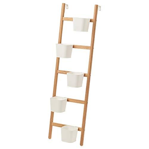 IKEA SATSUMAS 102.581.55 - Soporte para plantas (5 macetas, bambú), color blanco