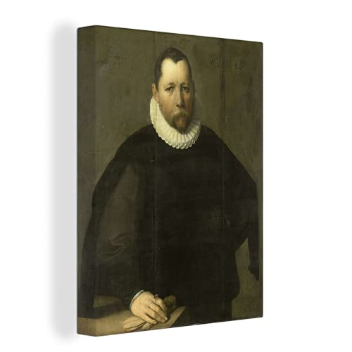 MuchoWow Photo sur toile - Pieter Jansz Kies - Peinture de Cornelis Cornelisz. van Haarlem - 60x80 cm - Avec Cadre