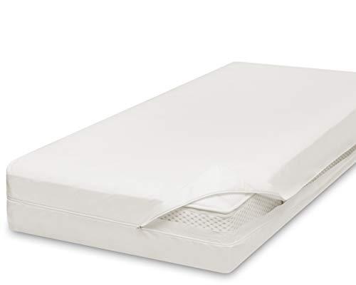 allsaneo Premium Encasing Matratzenbezug 90x200x20 cm, Allergiker Bettwäsche extra weich und leicht, Anti-Milben Zwischenbezug für Matratze