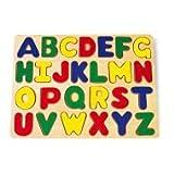 CAL FUSTER - Puzzle Letras de Madera para Encajar. Medidas: 22x32 cm.