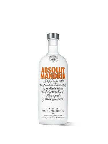 Absolut Mandrin – Absolut Vodka mit Mandarinen & Orangen Aroma – Absolute Reinheit und einzigartiger Geschmack in ikonischer Apothekerflasche – 1 x 1 L