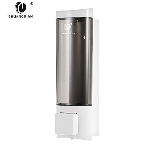 Decdeal Dispensador de Jabón de Pared Manual, para Champú Líquido Gel de Ducha Limpiador Loción para Baño/Hotel (200ml)