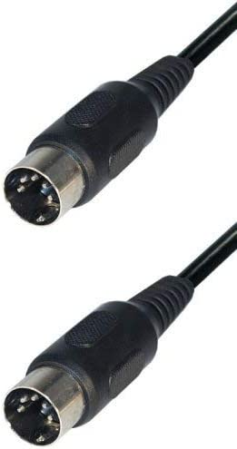 Abgeschirmtes Gerade Anschlüsse 1,8m  TOP ** NEU * Midi Kabel 5 Pin DIN