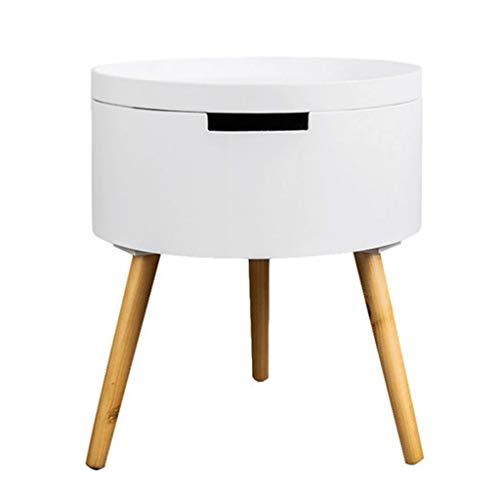 Tables basses d'angle De Salon Mini Ronde Table De Lit Nordique De Côté Canapé Petite Table Ronde Cadeau (Color : Blanc, Size : 38 * 43cm)