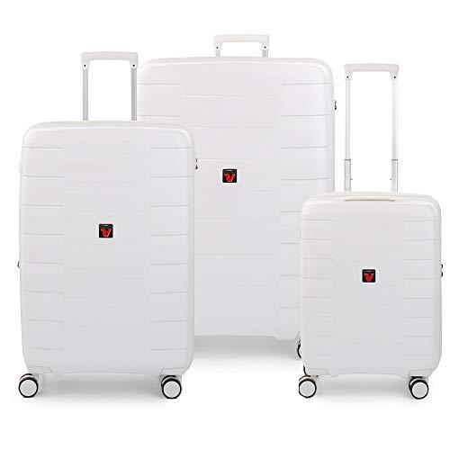 RONCATO Skyline - Juego de 3 maletas rígidas extensibles (L, medio + cabina) Coco