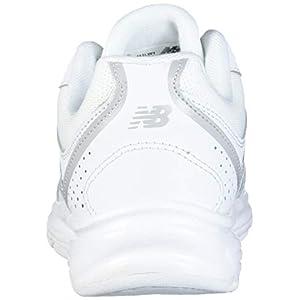 New Balance womens 411 V1 Walking Shoe, White/White, 6.5 US