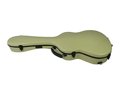 Premium Gitarrenkoffer GFK Konzertgitarre Koffer Gitarre Fiberglas Concert Guitar Case - Singing Dragon (Elfenbein-rot)