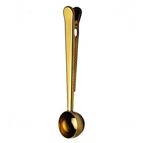 Best Bargain Milk Spoon,Multifunction Coffee Scoop With Clip,Stainless Steel Tea Coffee Measurin...