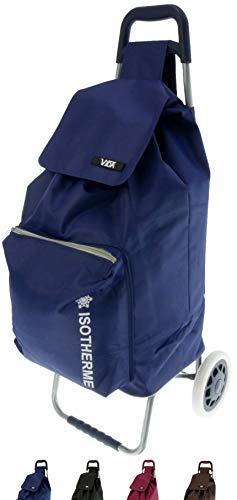 Vida Einkaufstrolley CV605, 2 Rollen, isoliert, leicht, praktisch, robust, hochwertig, großes Fassungsvermögen (Marineblau), 2 kg, 95 x 39 x 32 cm
