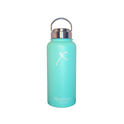 Xtreme Canteen Canteen with Signature Stainless Lid, Tiffani Blue, 32 oz