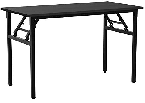 Need Klapptisch Computertisch Schreibtisch Klassischer Klappbarer Tisch 120CM aus Holzwerkstoffen und Metallframe,Konferenztische,PC Tisch Bürotisch Esstisch für Zuhause und Büro,120 * 60CM,AC5CB