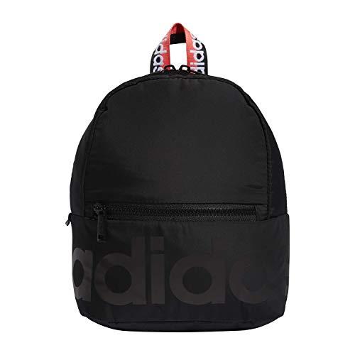 adidas Linear Mini Mochila, Unisex, 5150795, Negro/Rosa señal/Blanco, Talla única